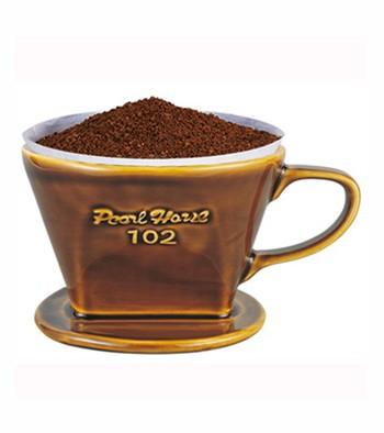 【Pearl Horse】日本寶馬牌扇形陶瓷咖啡濾器_2-4人用